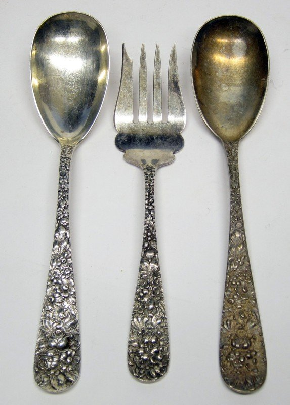 18: STIEFF STERLING ROSE SERVICE FLATWARE