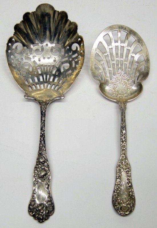19: STERLING SERVING SPOONS (2)