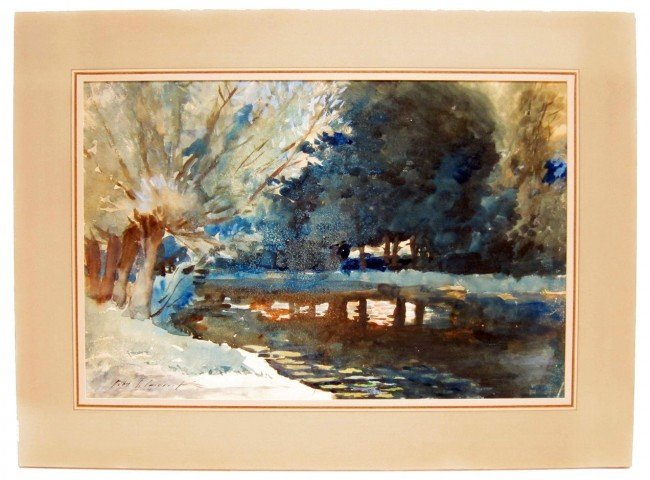 140: J. S. SARGENT SCENIC WATERCOLOR