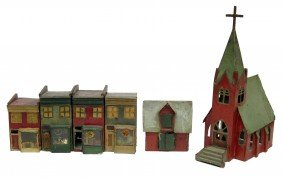 19: (6) CHRISTMAS GARDEN HOUSES
