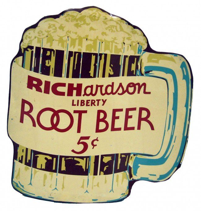 37: RICHARDSONS ROOT BEER SIGN