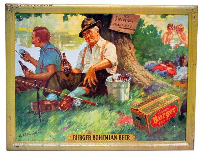 38: BURGER BEER ADVERTISING SIGN