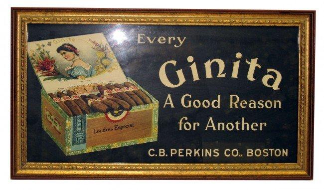 45: GINTA CIGAR ADVERTISING