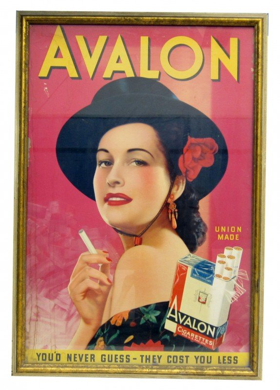 46: AVALON CIGARETTES ADVERTISING POSTER