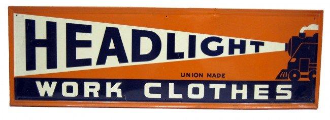 48: HEADLIGHT WORK CLOTHES SIGN