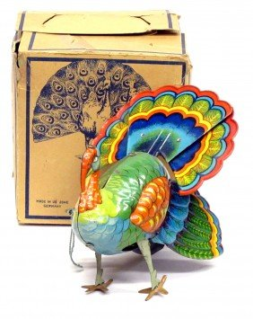 GERMAN TIN TOY TURKEY