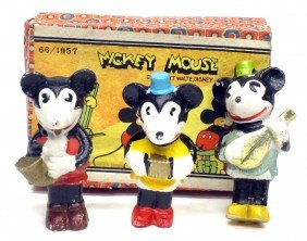 MICKEY MOUSE BISQUE BAND FIGURES