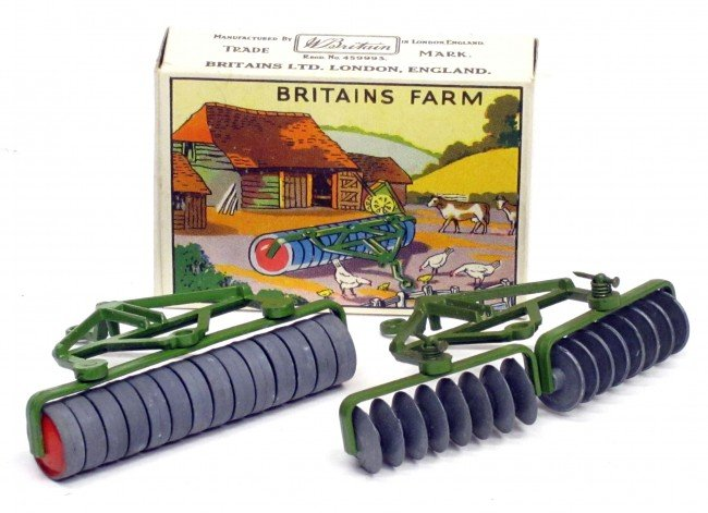 202: BRITAINS (2) TRACTOR ROLLER with ORIGINAL BOX