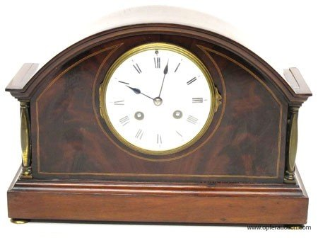 16: FRENCH 8 DAY MANTLE CLOCK