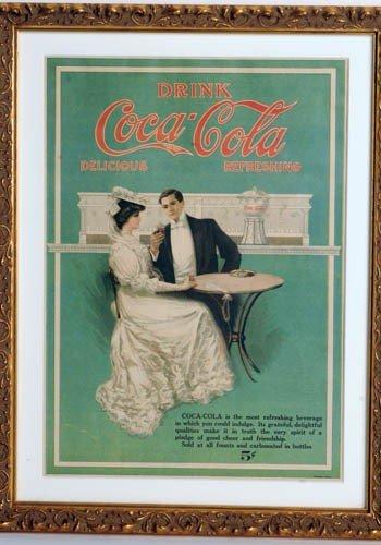 2: 1906 COCA-COLA MAGAZINE AD, COUPLE AT SODA FOUNTAIN.