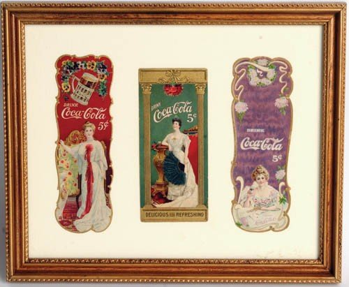 3: LOT OF 3 COCA-COLA BOOKMARKS 1902, 1904, 1905,
