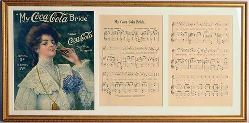 """4: 1905 """"MY COCA-COLA BRIDE"""" SHEET MUSIC"""