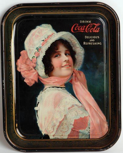 """8: 1914 Coca-Cola Serving Tray Featuring """"Betty"""""""