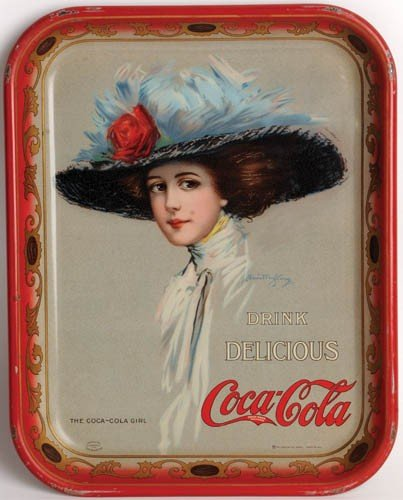 9: 1910 COCA-COLA SERVING TRAY FEATURING HAMILTON KING