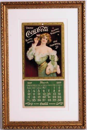 20: 1907 COCA-COLA RELIEVES FATIGUE CALENDAR
