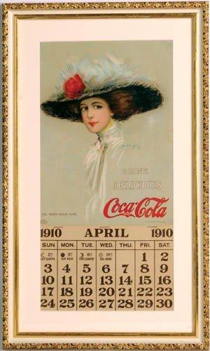 21: 1910 Coca-Cola Hamilton King art, calendar,