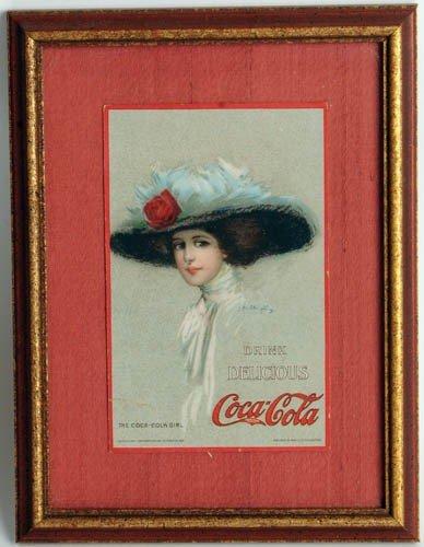 22: 1909 COCA-COLA HAMILTON KING, ART WORK, POSTCARD