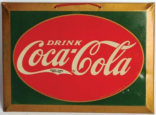 24: 1927 Embossed Tin Coca-Cola Sign