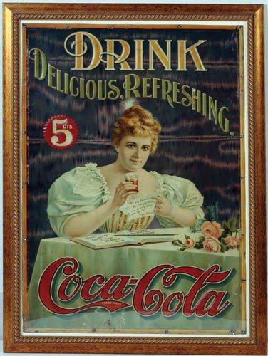 301 1900 Coca Cola Hilda Clark Tin Sign