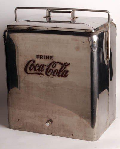 333: 1950'S COCA-COLA PICNIC COOLER. TEMPRITE STAINLESS