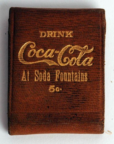 464: Early 1900 Coca-Cola matchbook holder