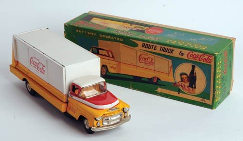 468: 1950's Coca-Cola Delivery truck, tin litho