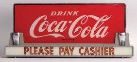 1950's Coca-Cola Counter Sign