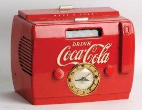 1950's Coca-Cola Cooler Clock Radio