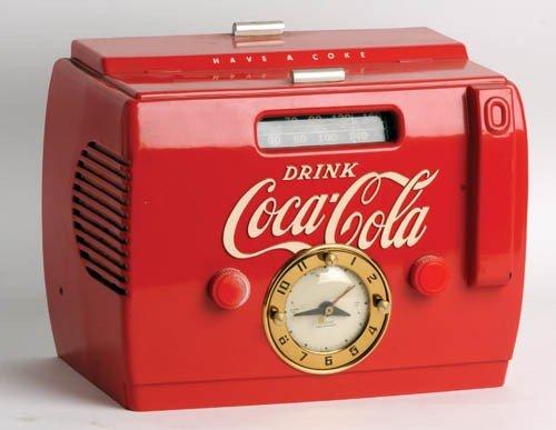 534: 1950's Coca-Cola Cooler clock radio