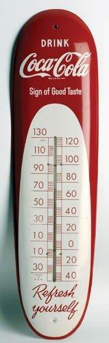 1950's Coca-Cola  Tin Thermometer