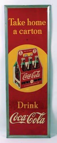 547: 1940 Coca-Cola tin sign