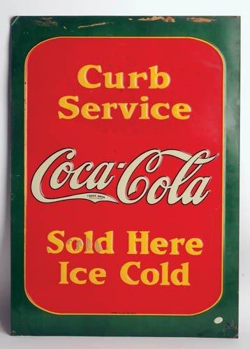 548: 1933 Coca-Cola tin sign