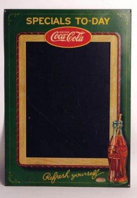 1929 Coca-Cola Tin Embossed Menu Board