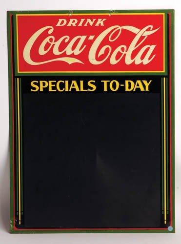 553: 1938 Coca-Cola tin menu board