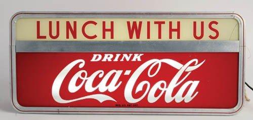 558: 1950's Coca-Cola lightup sign,