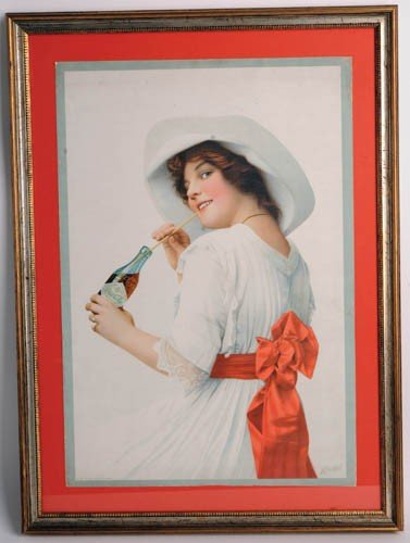 568: 1912 Coca-Cola paper sign