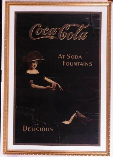 569: c.1913 Coca-Cola paper sign