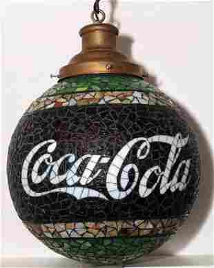 587: Early leaded Coca-Cola glass globe