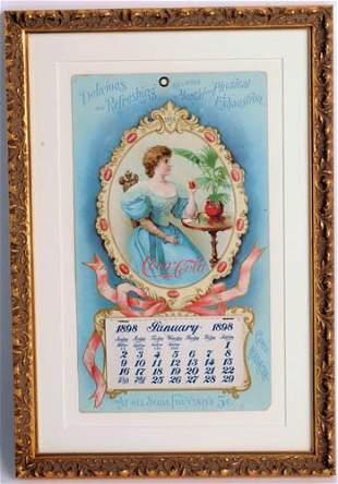 595: 1898 Coca-Cola calendar