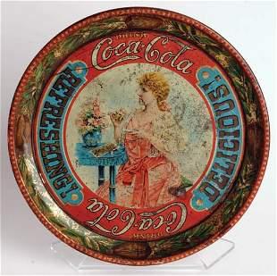 633: 1897 Coca-Cola Victorian Girl tray