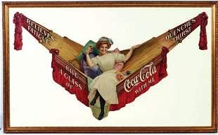 "689: c.1913 Coca-Cola festoon ""Girl On Hammock"""