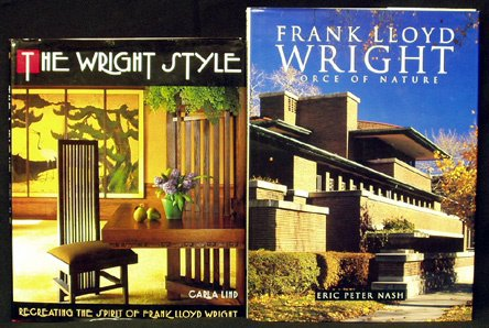 9: FRANK LLOYD WRIGHT Books (2) Hardcover