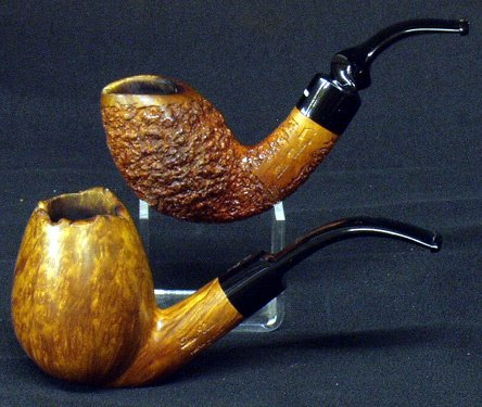 19: DON CARLOS Hand Carved Smoking Pipes (2)