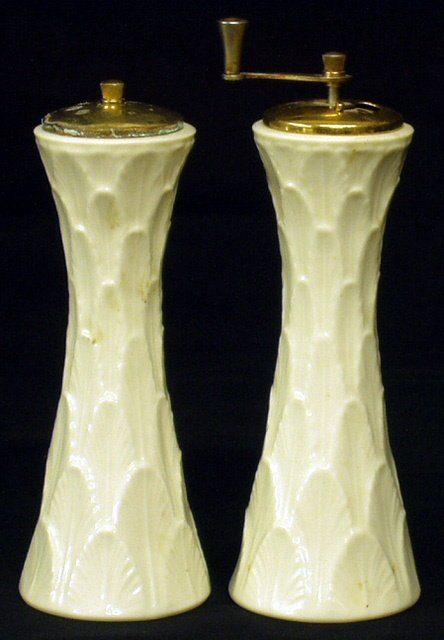 21: LENOX Creamware Salt Shaker and Pepper Mill (2)