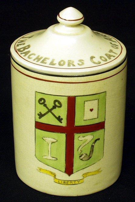 22: ROSEVILLE CREAMWARE Rare Tobacco Jar