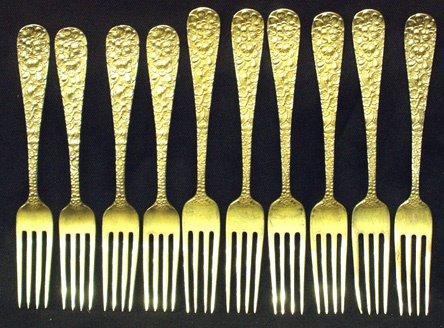 52: STIEFF ROSE Sterling Silver Dinner Forks (10)