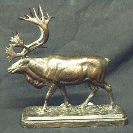 677: JAMES LIPPITT CLARK Rare Bronze Caribou