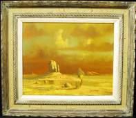749 THOMAS L LEWIS Taos Sunset Landscape