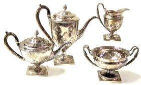 ENGLISH STERLING TEA & COFFEE SET