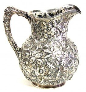 20D: KIRK STERLING REPOUSSE PITCHER